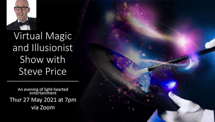 Virtual magic and Illusionist Show with Steve Price